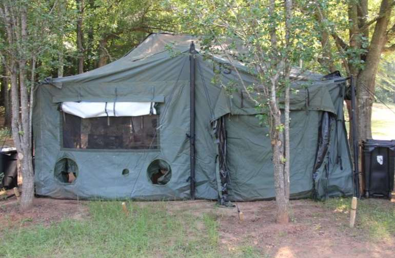 Tent living or bring your own we have smaller tent for rent as well