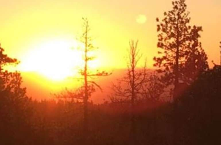 Sunset at Big Baldy (Viewpoint on Google Map Pic)