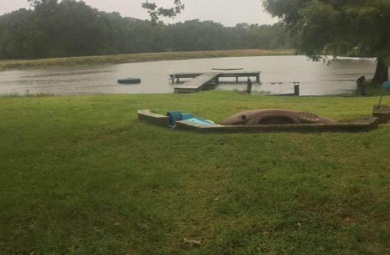 Lake and pavilion. Good floating.