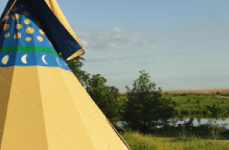 Tipi Camping at Walking Stick Adventures Farm