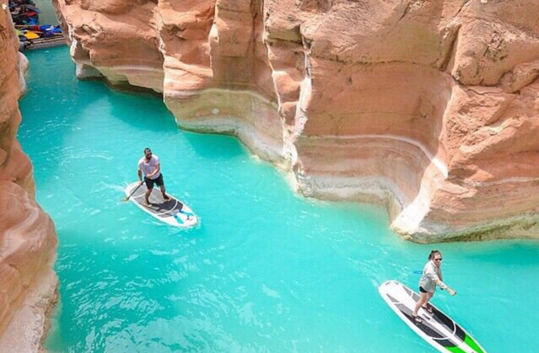 Havasu creek for this exact location... check with the camp host to book this tour it is breathtaking!
