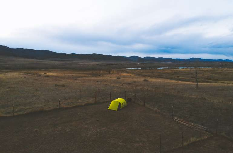 Birds eye view of the camping spot!