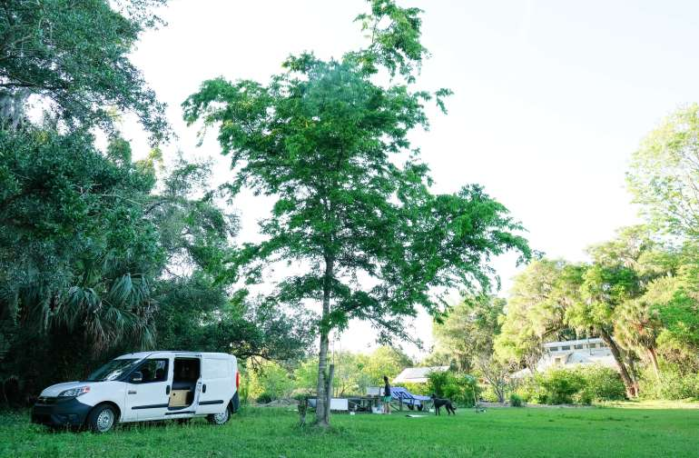 Where we set up camp.
