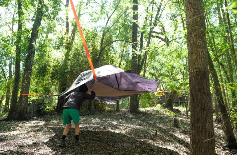 One of David's tree tents.