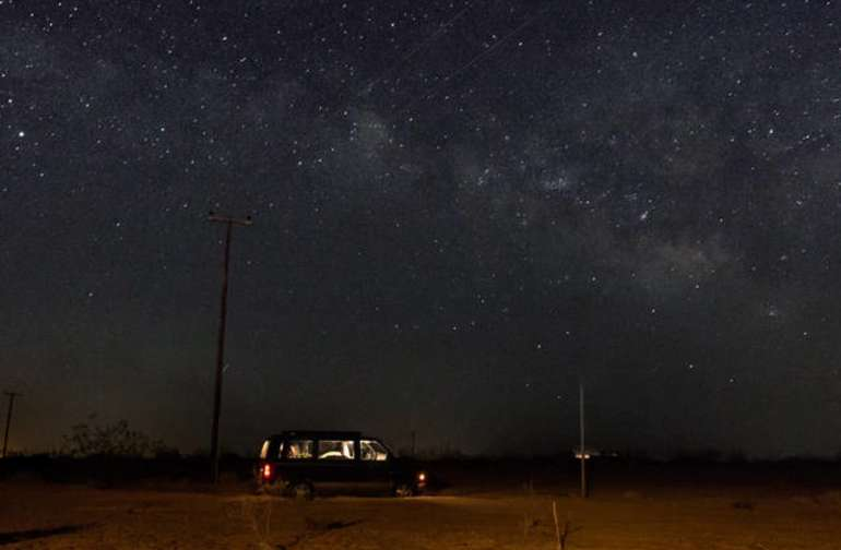 Great views of the Milky way at night
