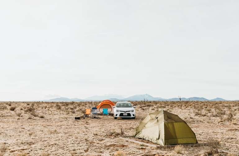 tent desert lodging