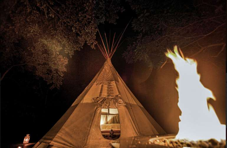 Treat yourself to an unforgettable night in the Midwest's coolest lodge. A night in the Tipi should be on everyone's bucket list.
