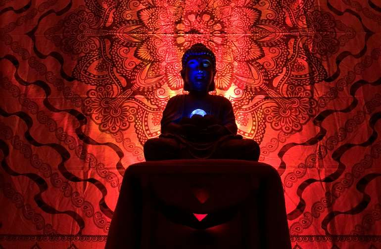 Buddha all lit up