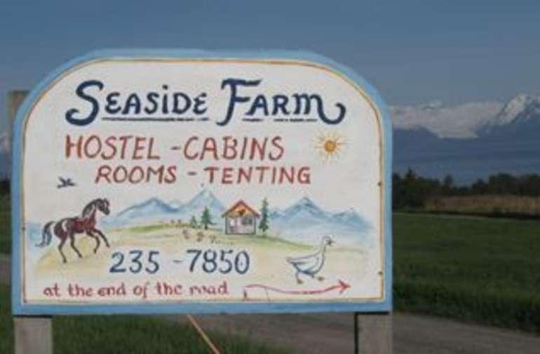 Seaside farm welcome sign!