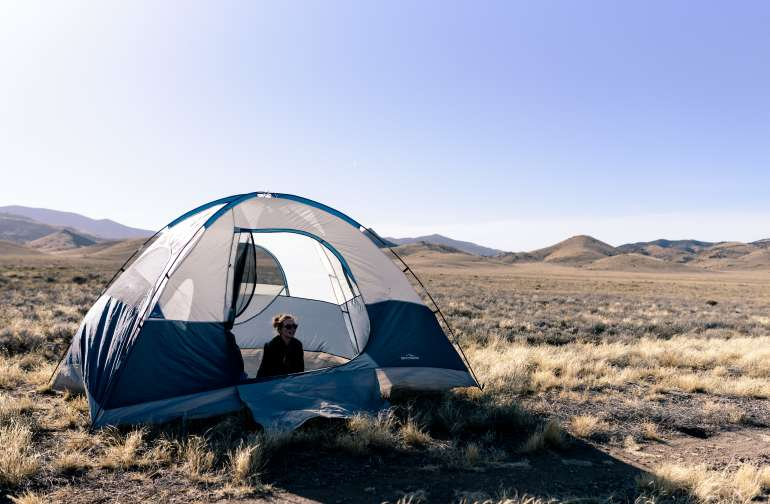 tent people lodging