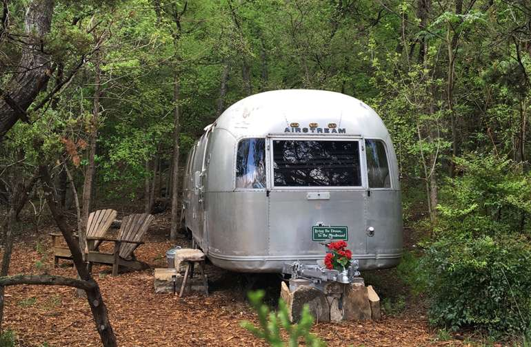 Living the dream in the Hideout Airstream!