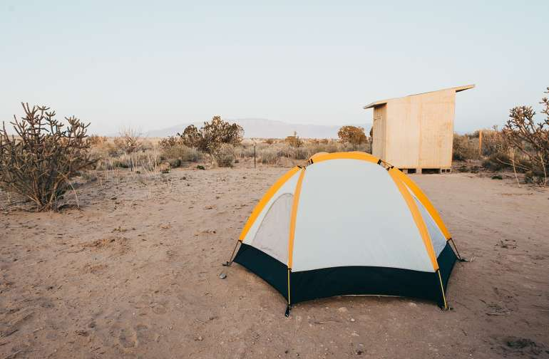 Camp with the Sandia Mountains as your view!