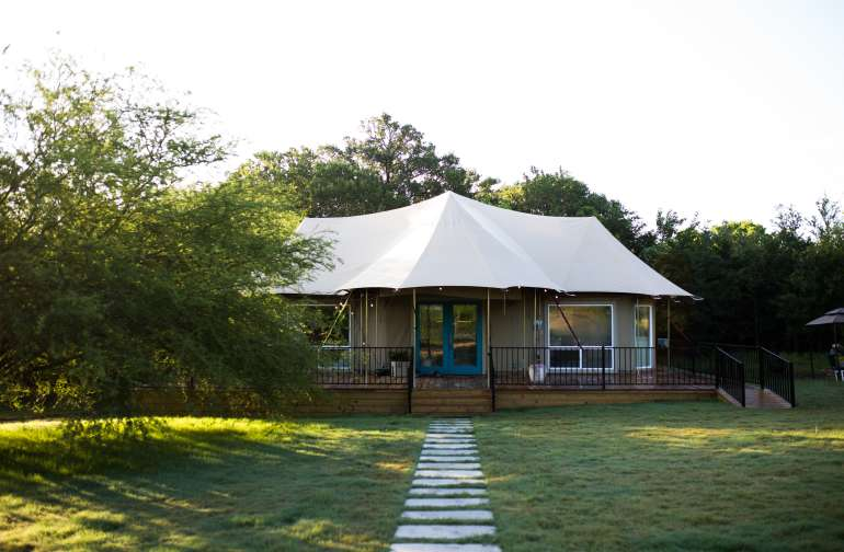 Morning at the safari tent.