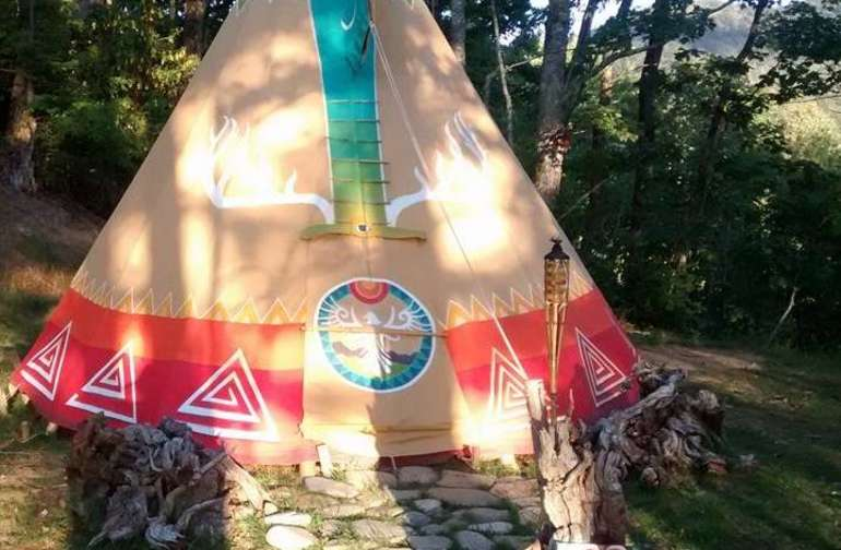 Hand painted Tepee