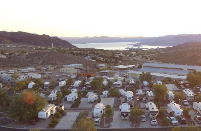 Lake view RV lot near Las Vegas, NV