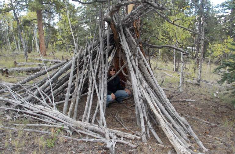 You might want to bring your own tent. This Tepee was built by my daughter and friends 25 years ago.