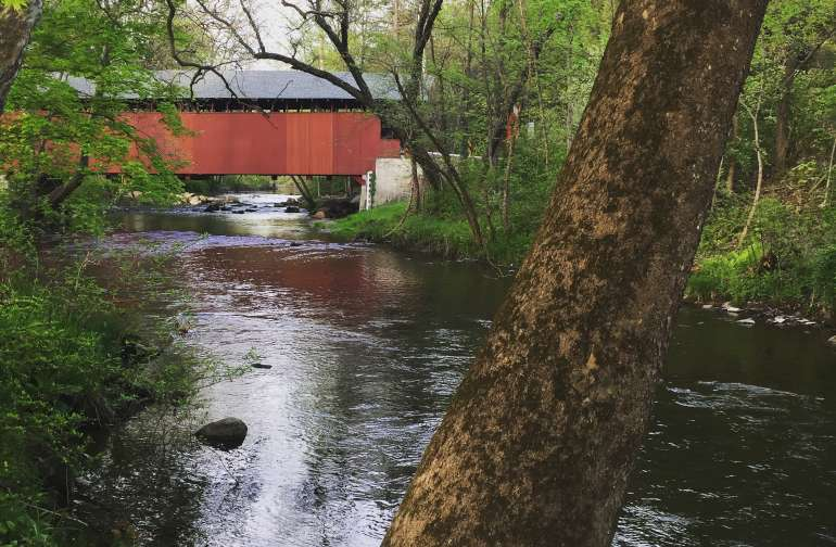There is even a covered bridge located on the property.