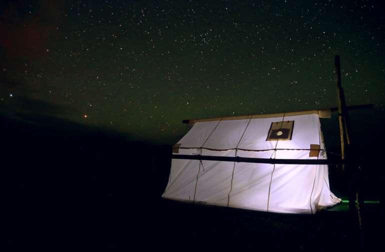 Large Cowboy Wall Tent