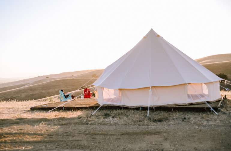 mountain yurt lodging