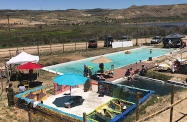 Relax in one of the Private Mineral Pools, Soak in the Family Mineral Pool and Swim in the Mineral Lap Pool at Juniper Hot Springs