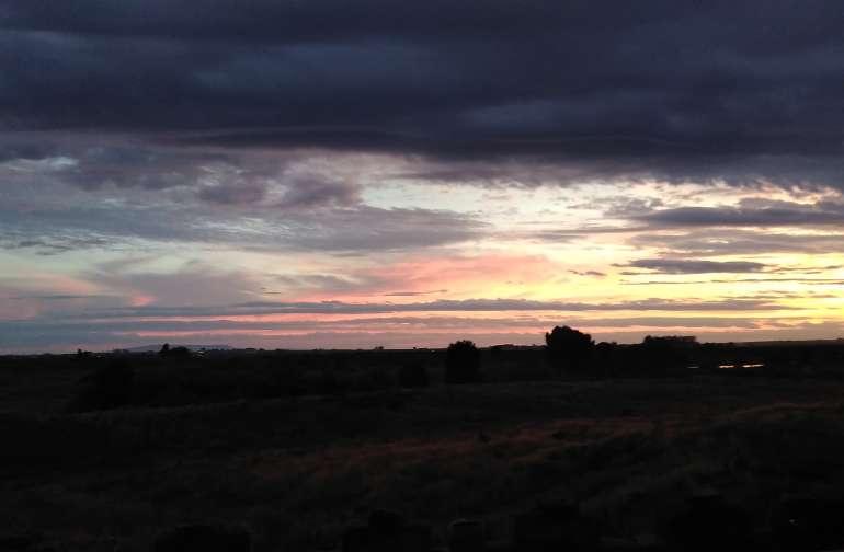 Beautiful sunrise and sunset