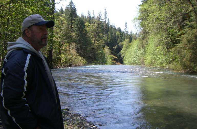South side of our bridge - Kosk Creek Fishing.