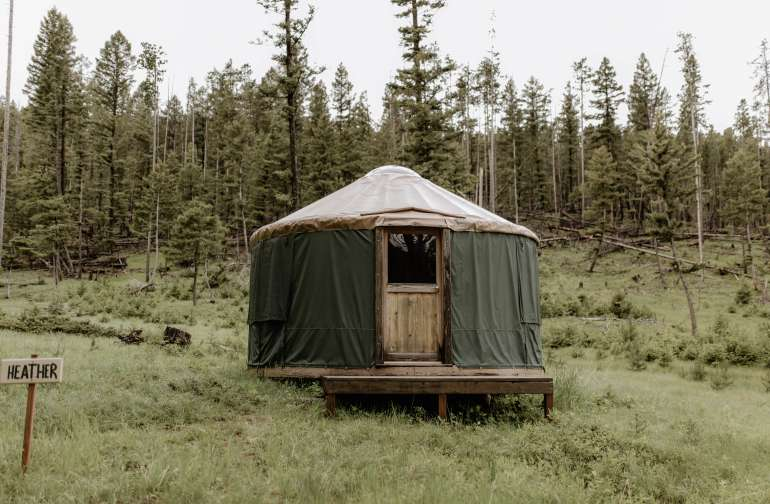 forest yurt lodging