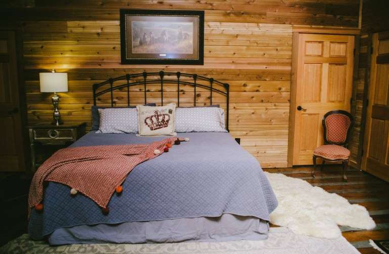 Master suite in the former hayloft.