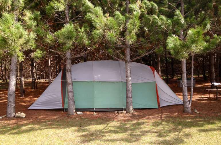 Camping in the Pines!  Cool shade, big views, no mosquitos.