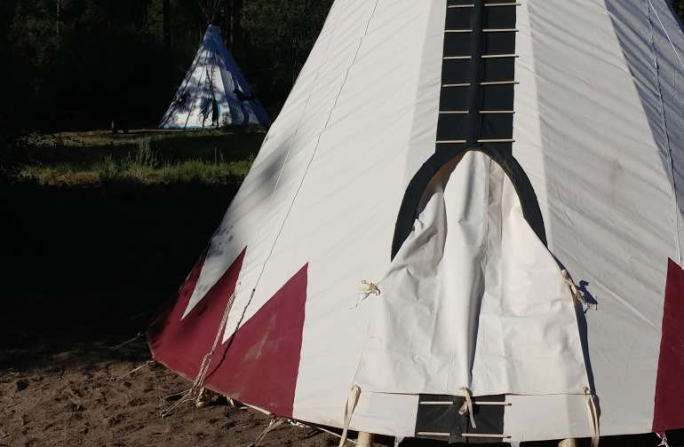 Crescent Moon Native American Tipi
