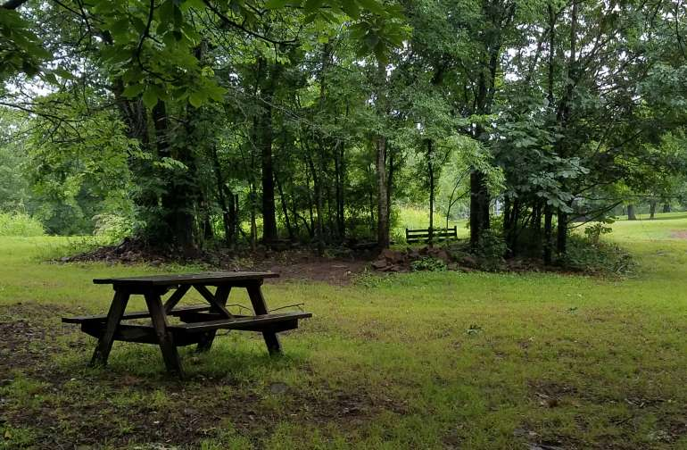 Picnic tables, grills, campfires