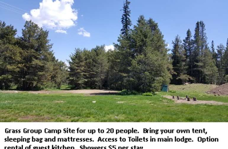 Group campsite for 20 to 30 people