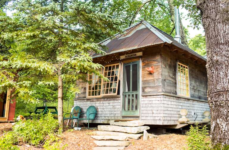 View of Hazelbrook Cabin - just a cute as can be.