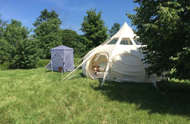 The Lulabelle Tent with bathroom cabana