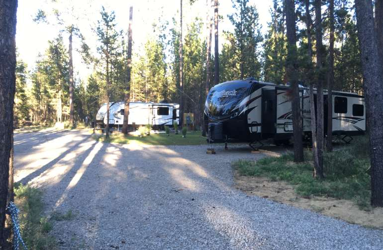 RV #1 on the right side RV #2 on the left side