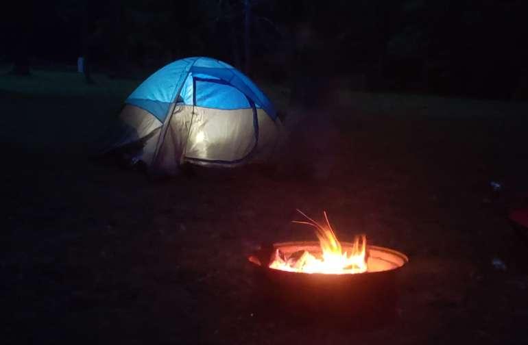 Rustic Tent Camping