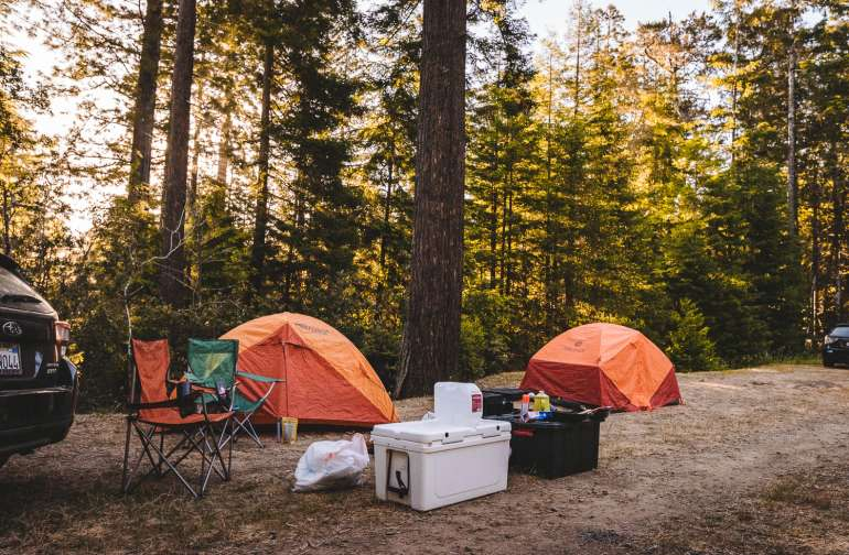 Lots of room for tent camping