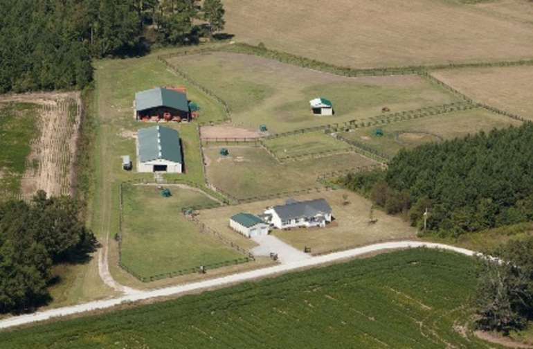 Partial aerial view of A New Life Ranch