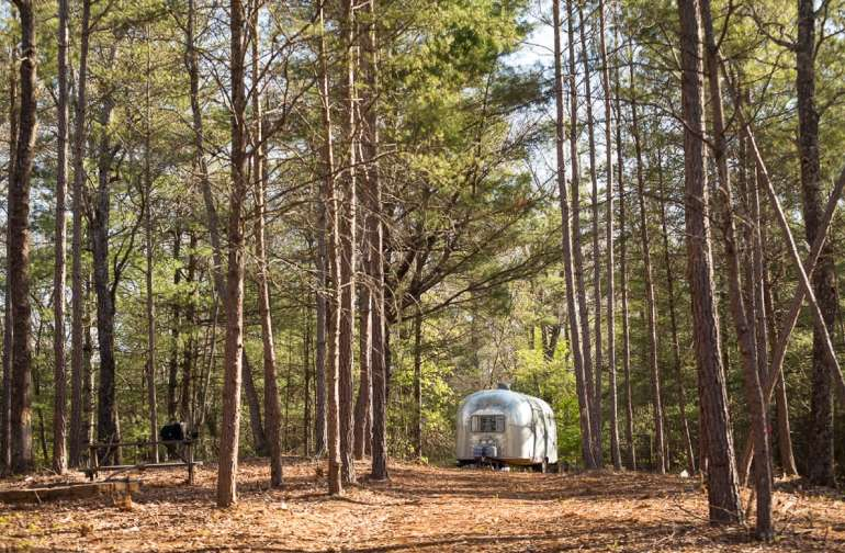 Lot 4 is perfect for any type of camping- tents, RV, travel trailer, and can accommodate a bunch of campers!