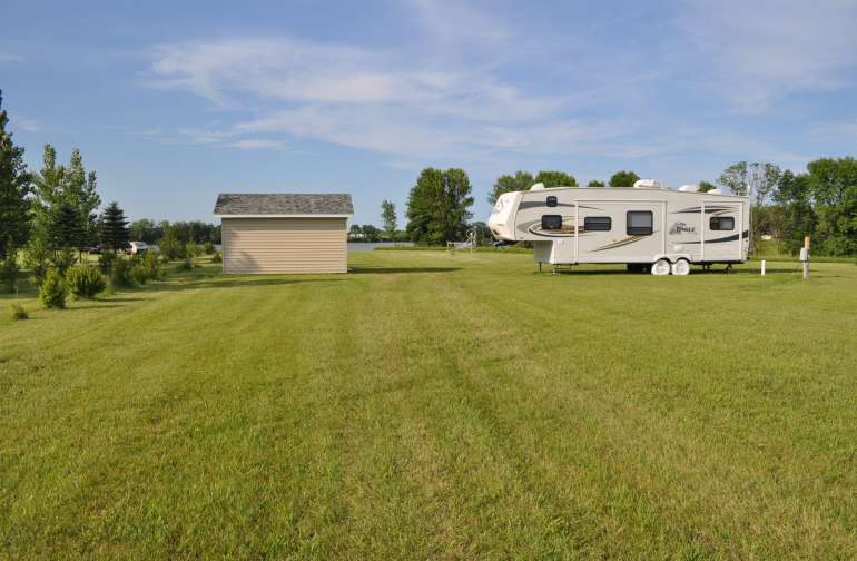 2+ acres to spread out.  RV in the picture is not included and is only shown for example purposes.
