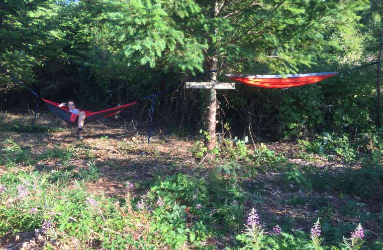 Girl Grotto - my daughters fav place to set up camp.