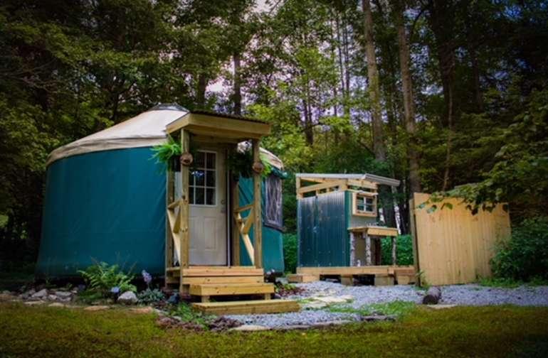 Little Green Yurt of Cedar Mountain!