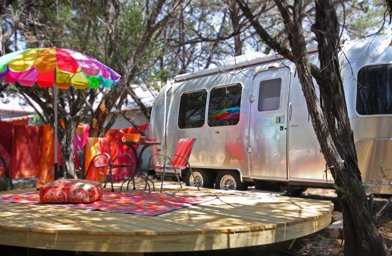 Our lovingly restored 2004 22' International CCD Airstream awaits your arrival