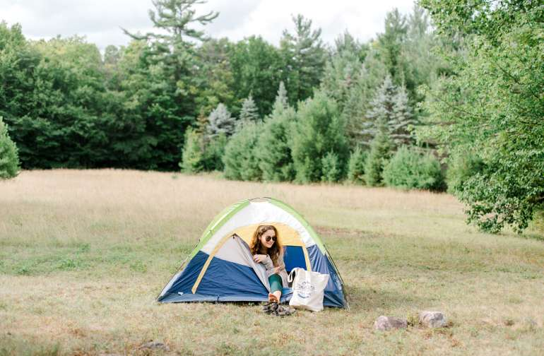 "Camping spot truly in the ""Field of Dreams"""