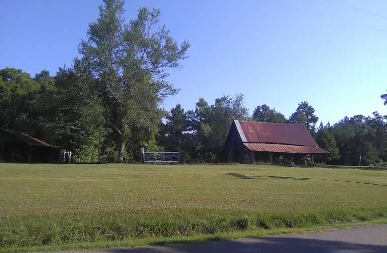 The barn and pasture, great place to pull in and rest for a spell.  If dry,  can drive right up and into the field.