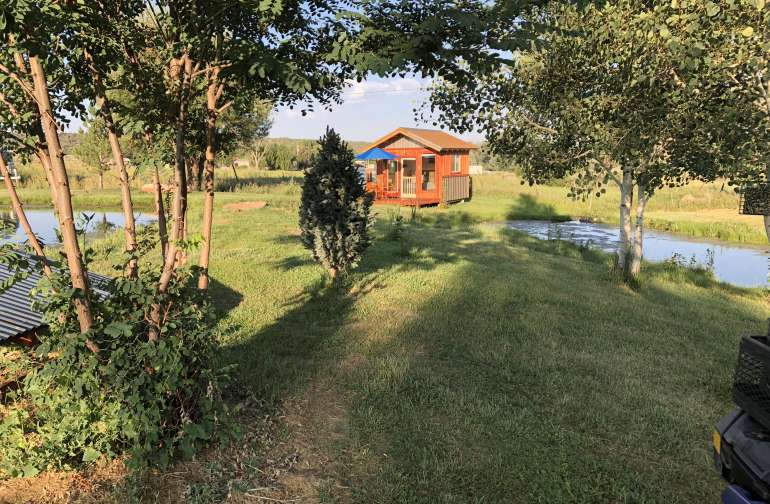 The Duck House Glamping Cabin.