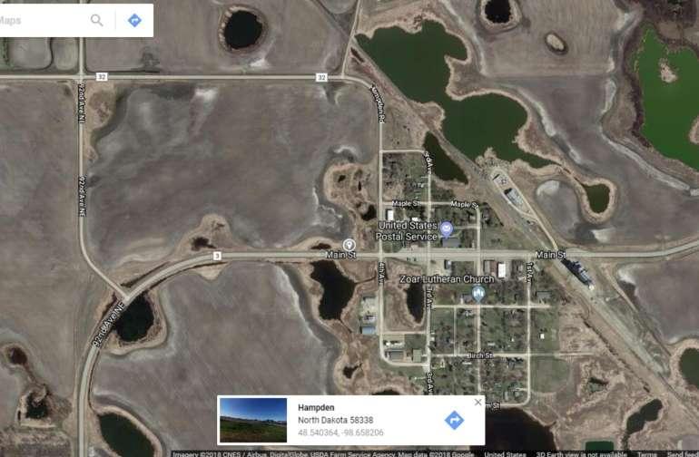 Camp sites Hampden , North Dakota