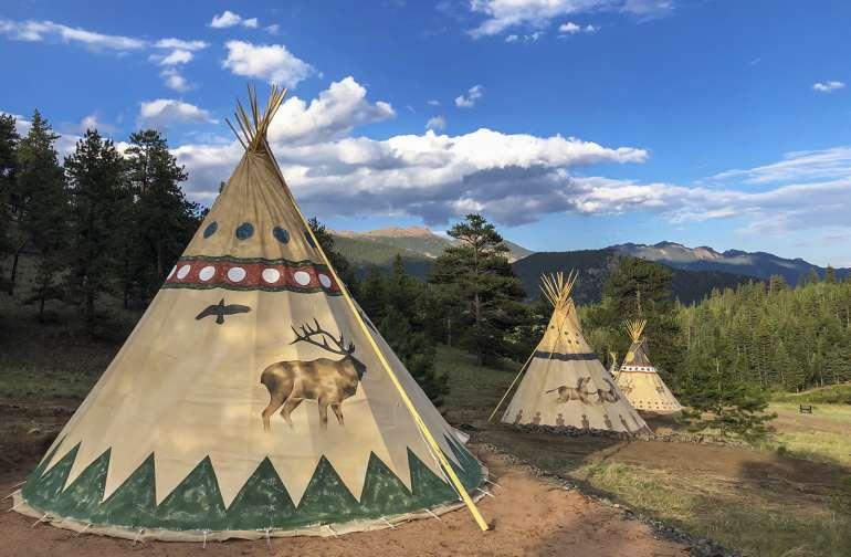 18ft Tipi at Bison Peak Lodge
