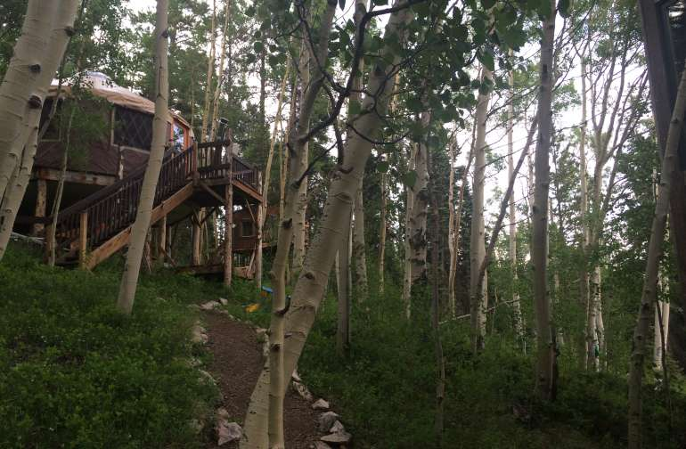 Nothing like a yurt 15 feet above the forest floor!  Edit