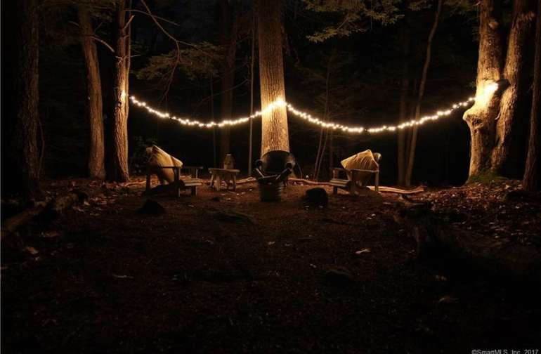 Peaceful evening under the string lights!